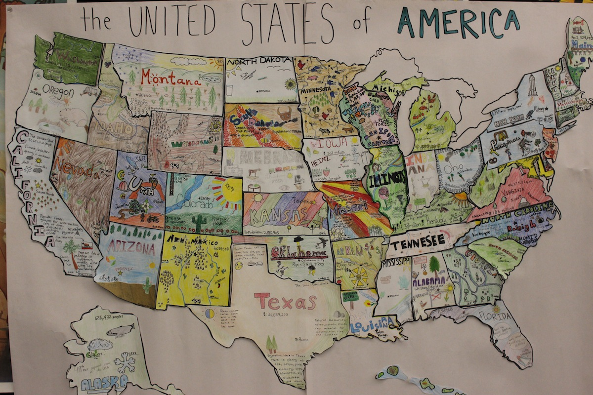 US Map Project Ashland Middle School AMS